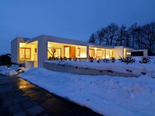 Modern flat house in italian countryside shelterness - Residence horizontal space damilano studio ...
