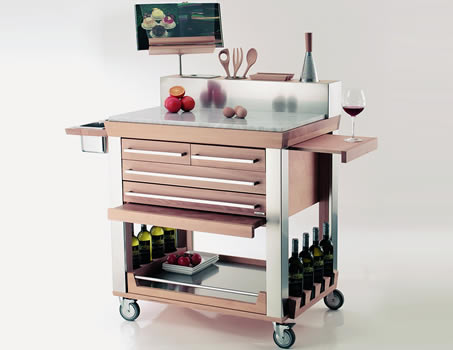 Picture Of Modern Kitchen Trolleys