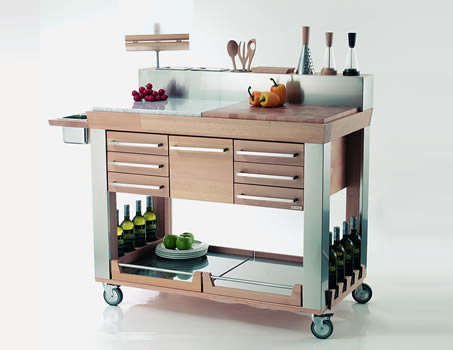 Modern kitchen trolleys shelterness for Kitchen trolley design