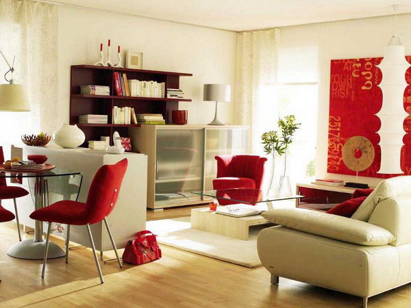 Simple Zoning Of A Modern Living and Dining Areas Combination