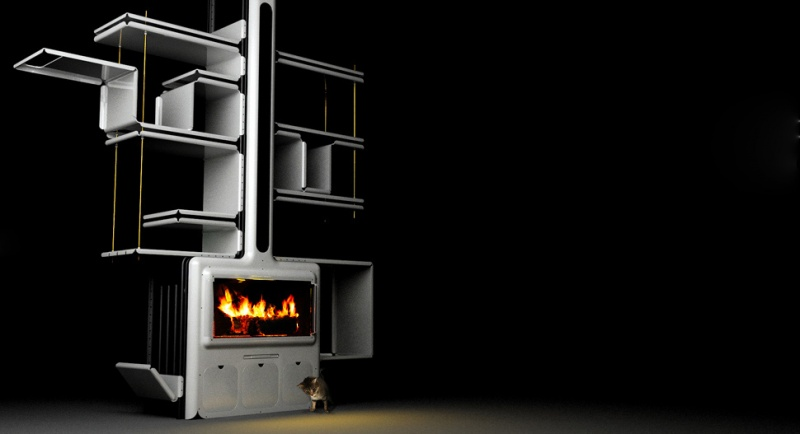 Modern Stove With Storage