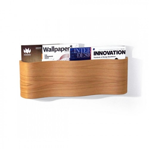 Modern Wooden Magazine Wall Rack