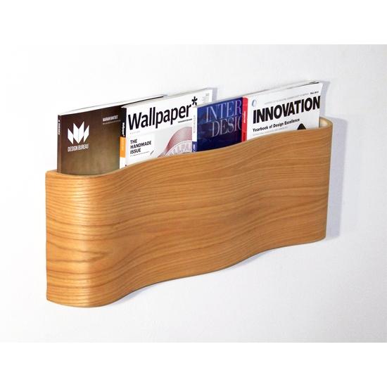 Modern Wooden Magazine Wall Rack