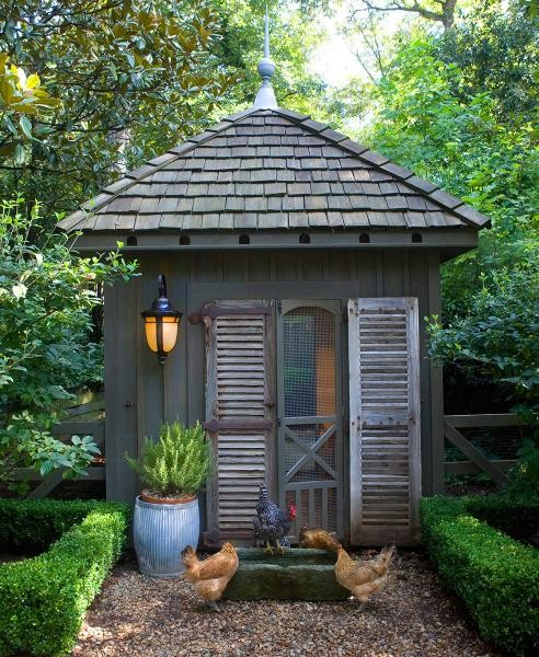 garden shed with shutters and a screen door via homesteadrevival - Garden Sheds 7x6