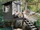 Treehouse-Like Garden Shed
