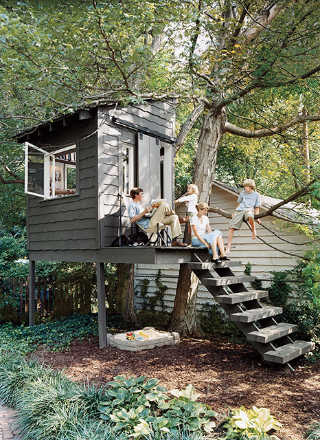 Treehouse-Like Garden Shed (via southernlivinghouseplans)