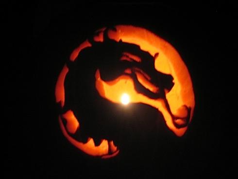 37 the most creative video game inspired pumpkin carvings mortal kombat logo pumpkin sciox Choice Image