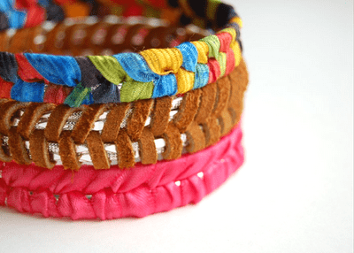 faux braided bangle bracelet (via studs-and-pearls)