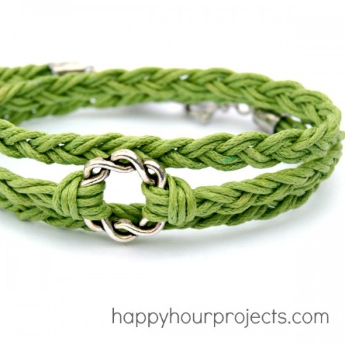 woven wrap bracelet (via happyhourprojects)