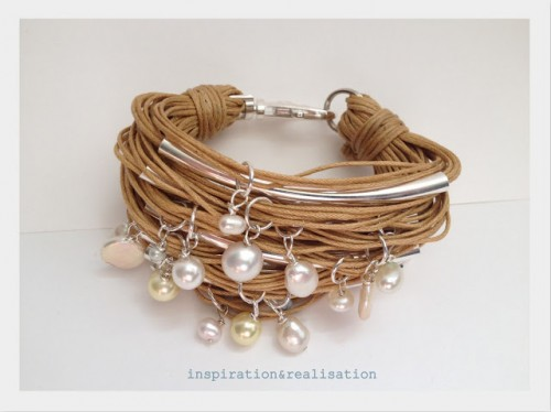 cord, tubes and pearl bracelet (via inspirationrealisation)