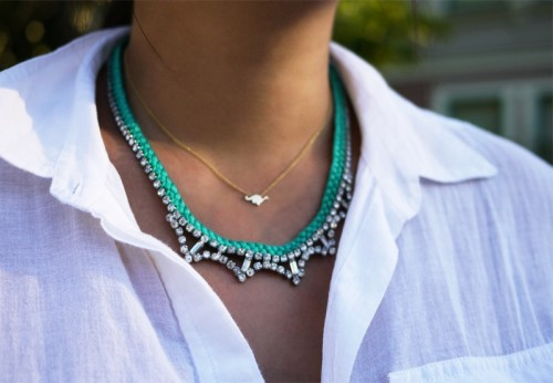 braided rhinestone necklace (via honestlywtf)