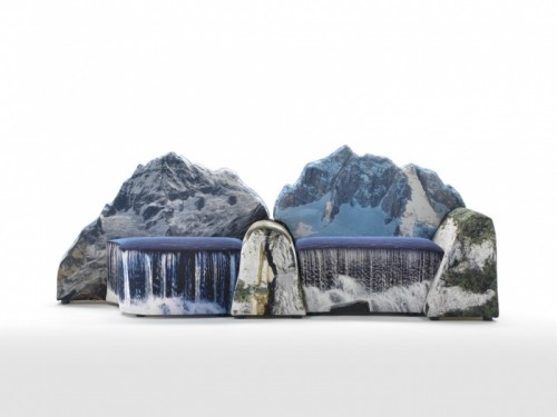 Mountain Inspired Couch For Real Nature Fans