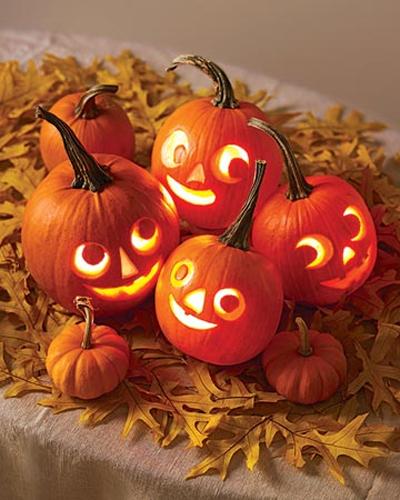 Multi Layer Carved Halloween Pumpkins