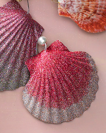 Homemade Natural Shell Ornament with Pearl