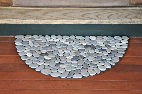 Natural-Looking DIY Rock Doormat