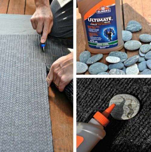 Natural-Looking DIY Rock Doormat