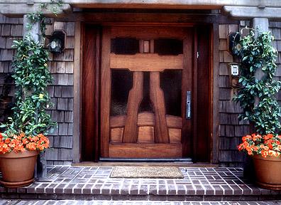 Natural Wood Front Door Design