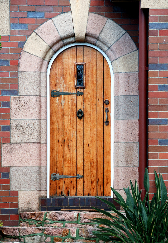 Picture of natural wood front door design for Wood front entry doors