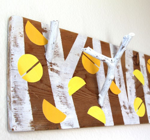 Nature-Inspired DIY Birch Forest Coat Rack