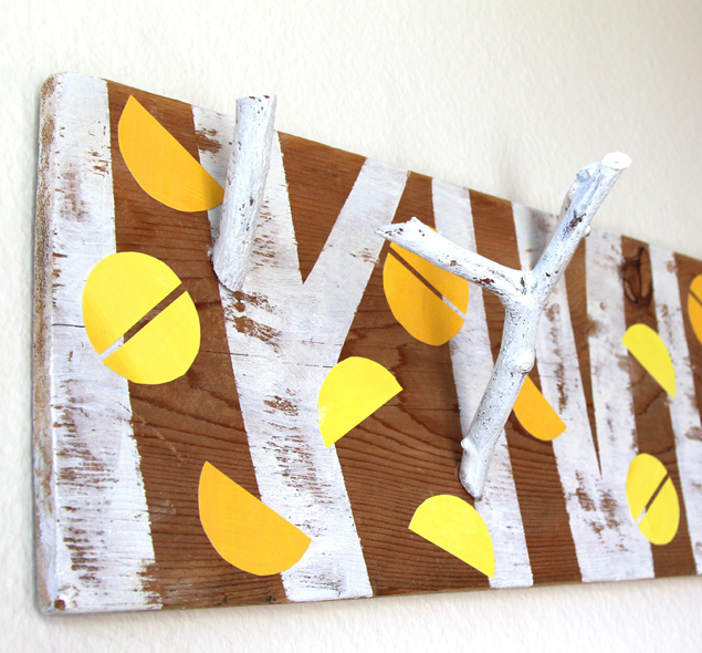 Picture Of nature inspired diy birch forest coat rack  1