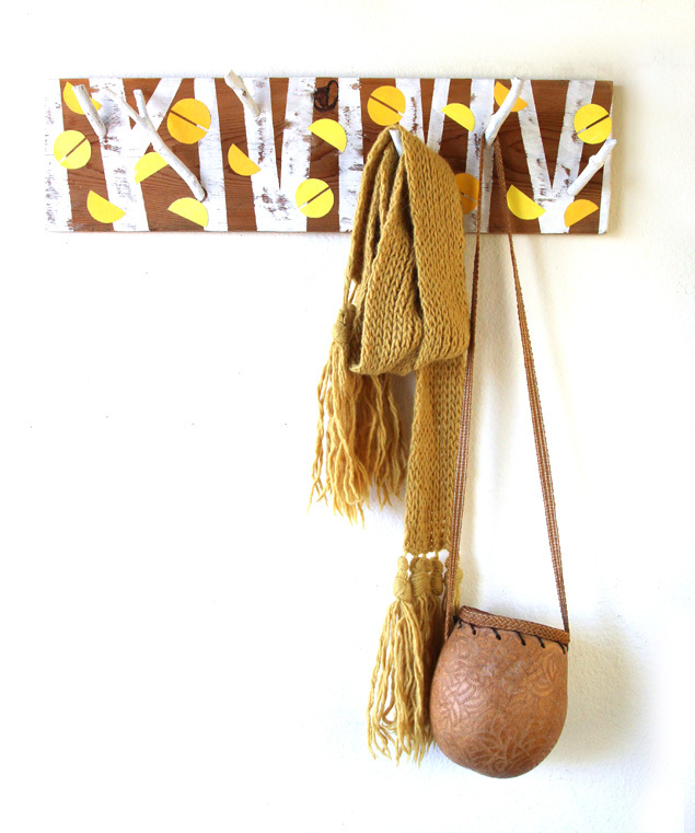 Picture Of nature inspired diy birch forest coat rack  2