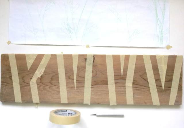 Picture Of nature inspired diy birch forest coat rack  3
