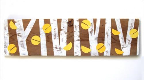 Nature Inspired DIY Birch Forest Coat Rack