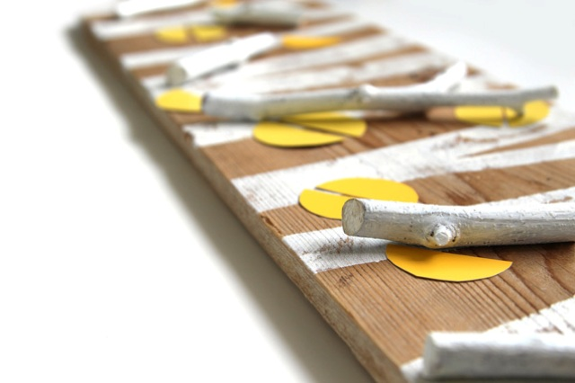 Picture Of nature inspired diy birch forest coat rack  5
