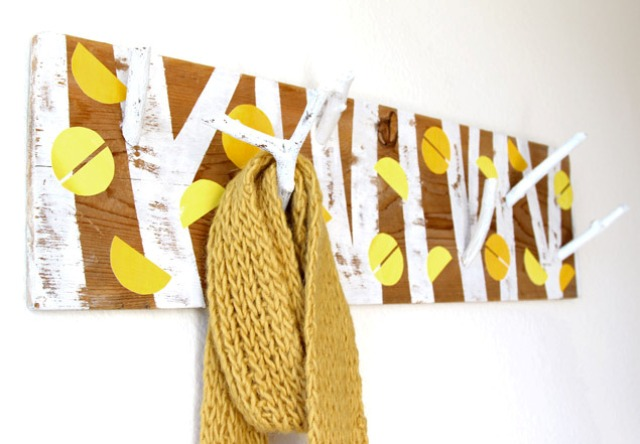 Picture Of nature inspired diy birch forest coat rack  6