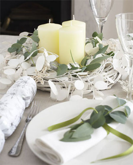 Nature Inspired Table Winter Decorations