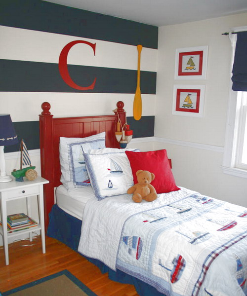 Navy Themed Boys Bedrooms