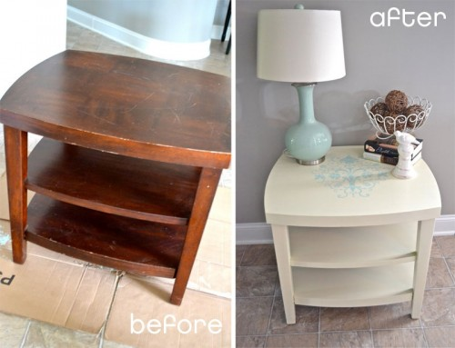 Before & After – Nightstand Makeover With A Stencil
