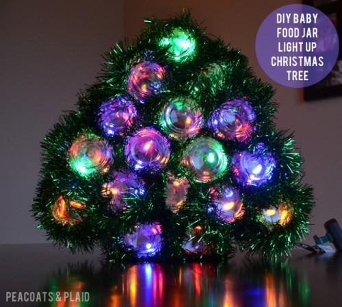 illuminated jars Christmas tree