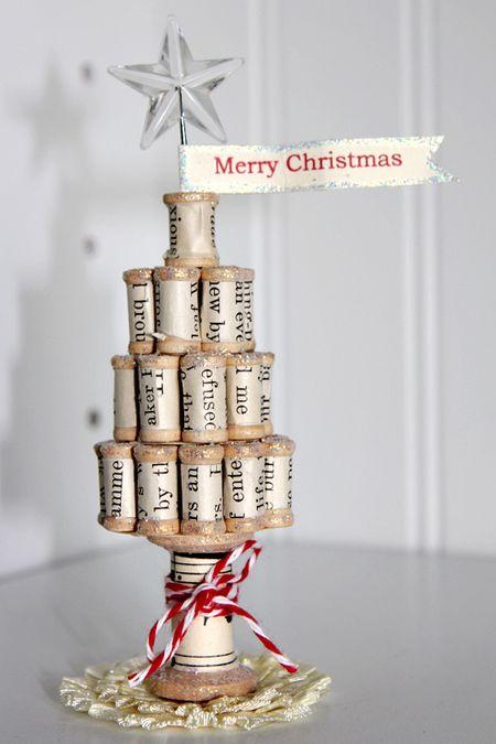 vintage spool Christmas tree