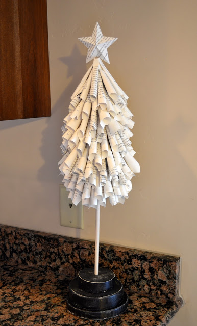 rolled paper Christmas tree (via craftaphile)