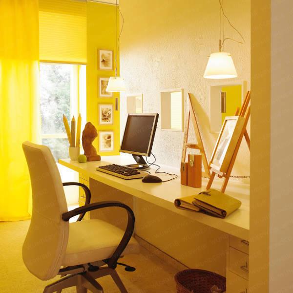 office hidden in living room shelterness