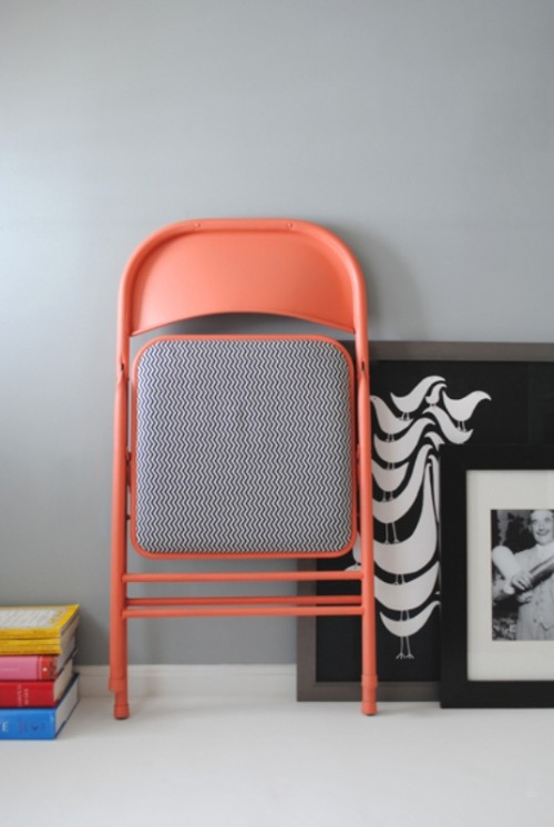 Colorful Renovation Of An Old Folding Chair