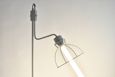 Old Lamps Remade Into Modern Fluriscent Fixtures