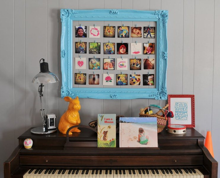 Old Picture Frame Renovation Into A Photo Frame