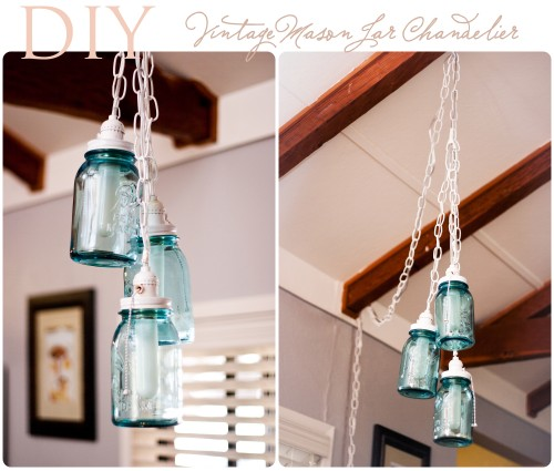 One More Awesome DIY Vintage Mason Jar Chandelier