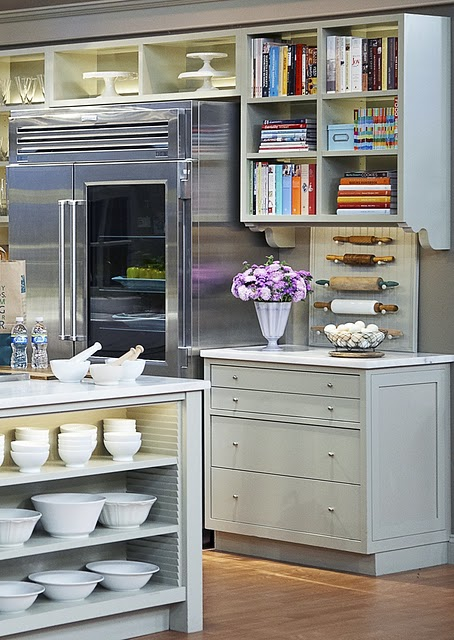 Open Shelves On A Kitchen