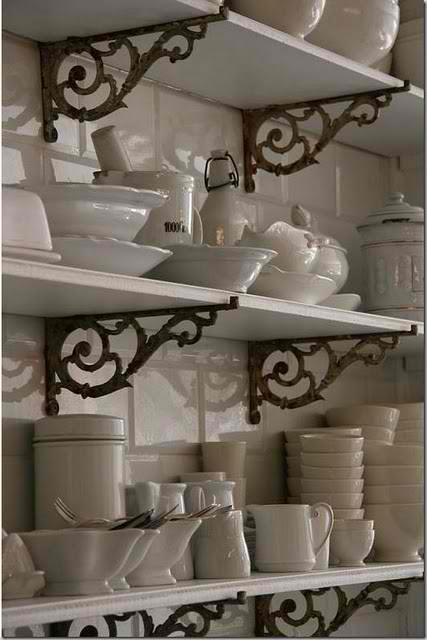 ... Kitchen Shelving Inspiration. Http://www.shelterness.com