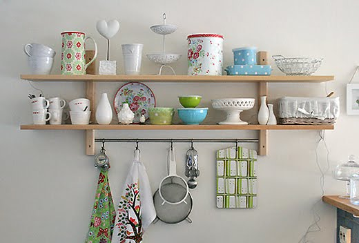 65 Ideas Of Using Open Kitchen Wall ShelvesShelterness