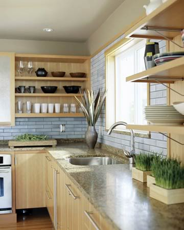 65 Ideas Of Using Open Kitchen Wall Shelves - Shelterness