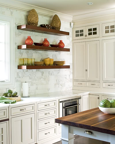 Open Shelf Kitchen Cabinet: 65 Ideas Of Using Open Kitchen Wall Shelves
