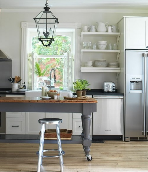 Kitchen With Open Cabinets: 65 Ideas Of Using Open Kitchen Wall Shelves