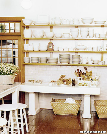 40 ideas of using open shelves on a kitchen shelterness