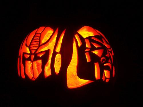 Optimus Prime And Megatron Pumpkin Faces