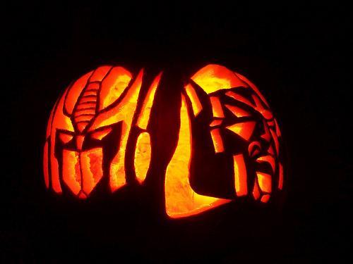Optimus Prime And Megatron Pumpkin Faces