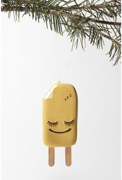 Orange Pop Christmas Tree Ornament